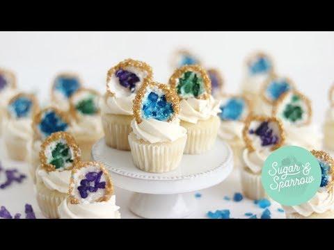 Mini Geode Cupcake Topper Tutorial