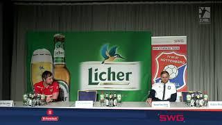 Pressekonferenz TV Hüttenberg - DJK Rimpar Wölfe / 26.02.2021 / 23:22 (11:7) / 2.Handball-Bundesliga