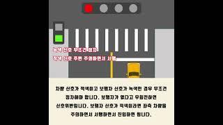서울운전면허학원 / 우회전 신호 보는 법 간단하게 알아…