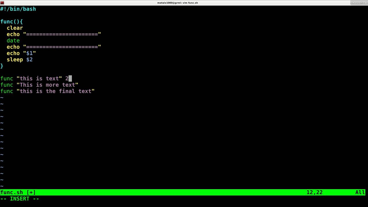 Passing Variables to Functions in the Linux Shell Script Tutorial