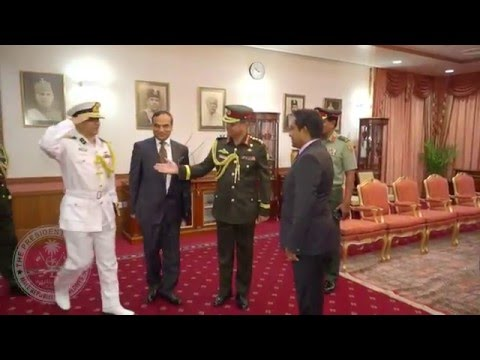 Chief of Army of Bangladesh Pays Courtesy Call on the President