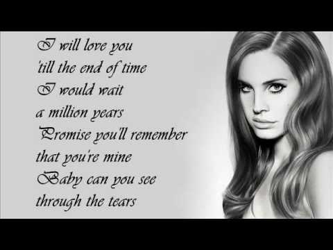 Lana Del Rey - Blue Jeans (Lyrics on screen)