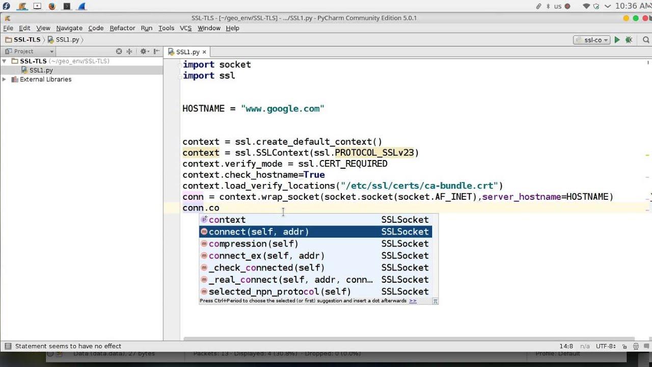101 Python Network Programming Ssl Tls Youtube