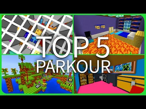 Minecraft PE Maps - TOP 5 BEST PARKOUR MAPS - IOS & Android - MCPE 1.1 / 1.1.5 / 1.2