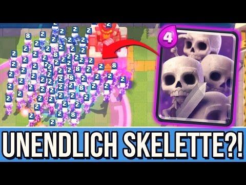UNENDLICH SKELETTE!? | 6 Skeleton Armys! :D + Spiegeln! | Clash Royale [deutsch/german]