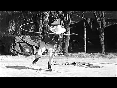 Young Montie Montana  performs rope tricks in Hollywood, California. HD Stock Footage