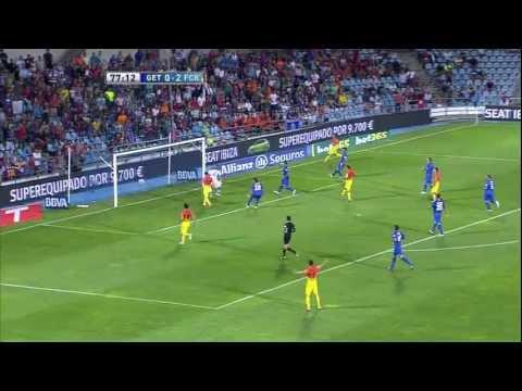 Gol de Lionel Messi (0-3) en el Getafe CF - FC Barcelona Jornada 4