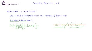 function pointers in C