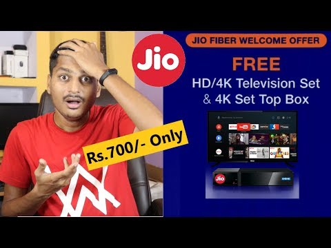 Jio Gigafiber Launched With Free 4K HD TV & DTH Set Top Box | Jio Welcome Offer