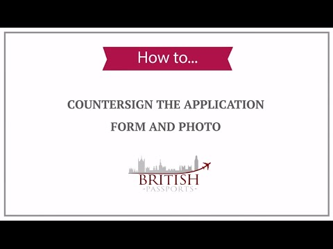 How To Countersign The Application Form And Photo Youtube