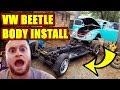 VW Beetle Body Put on Pan
