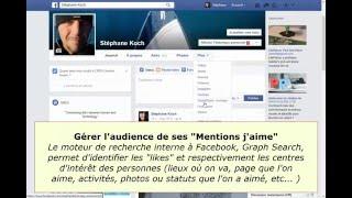 Facebook gérer l'audience des mentions J'aime (centres d'intérêt et activités)