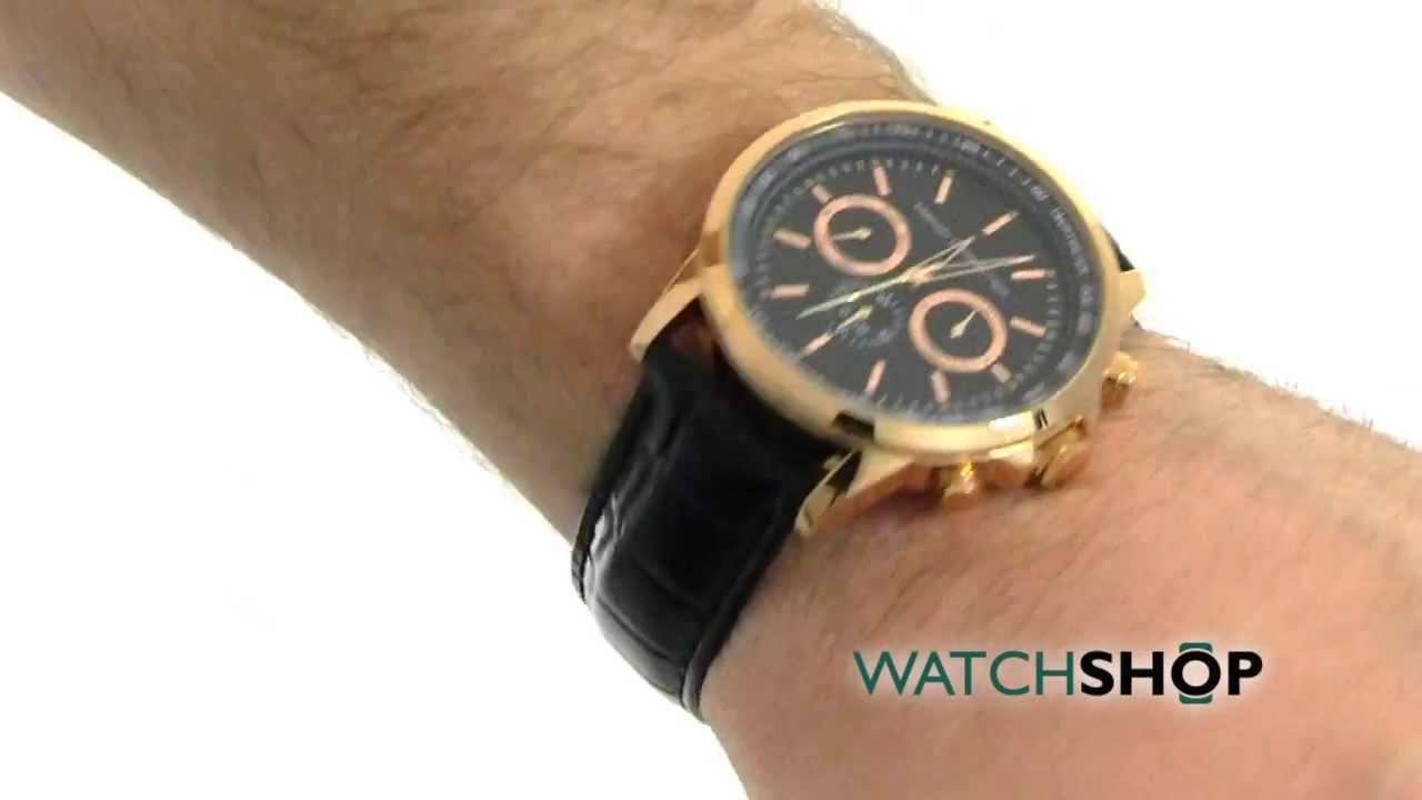 men s french connection chronograph watch fc1146bg