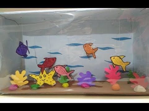 How To Make a Fish Aquarium using Box |  DIY Art & Craft for Kids