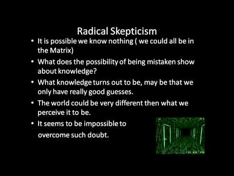 Introduction to Philosophy: Epistemology- Skepticism