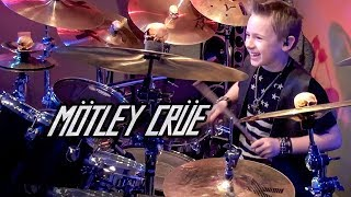 """Kickstart My Heart"" Avery Molek, 9 year old Drummer"