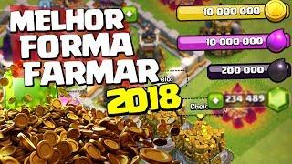 MELHOR FORMA DE FARMAR QUALQUER CV EM 2018 CLASH OF CLANS