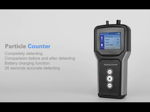 How to use Particle counter to test air quality