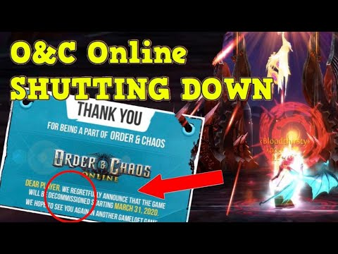 Order & Chaos Online - Shutting Down!?