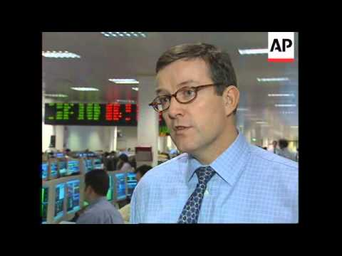 UK: LONDON: STOCK MARKETS TUMBLE IN MIDDAY TRADING