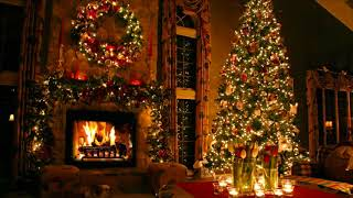 30-minutes-of-traditional-christmas-music-with-beautiful-christmas-tree-and-fireplace-background