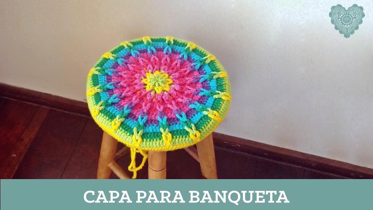 Criações em Crochê: Capa para banqueta Luciana Ponzo   #B3A618 1920x1080