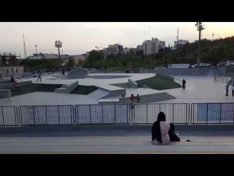 Tehran (Iran) skate park at the southern end of Tabiat Bridge