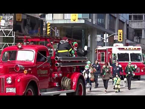 St.Patrick's day parade at Bloor street Toronto 2018