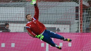 vuclip Manuel Neuer - High Diving Saves - Goalkeeper Training | Torwart Training Paraden | FC Bayern Munich