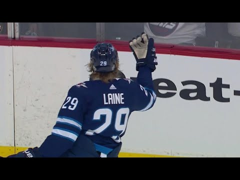 Patrik Laine goes top shelf for first playoff goal