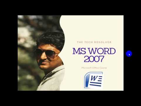 Microsoft Word 2007 Tutorial in Bangla | MS Word in Bangla Part-7 | মাইক্রোসফট ওয়ার্ড টিউটোরিয়াল thumbnail