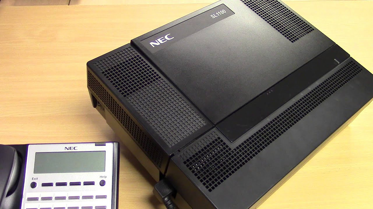 How To Restart An Nec Sl1100 Telephone System Youtube