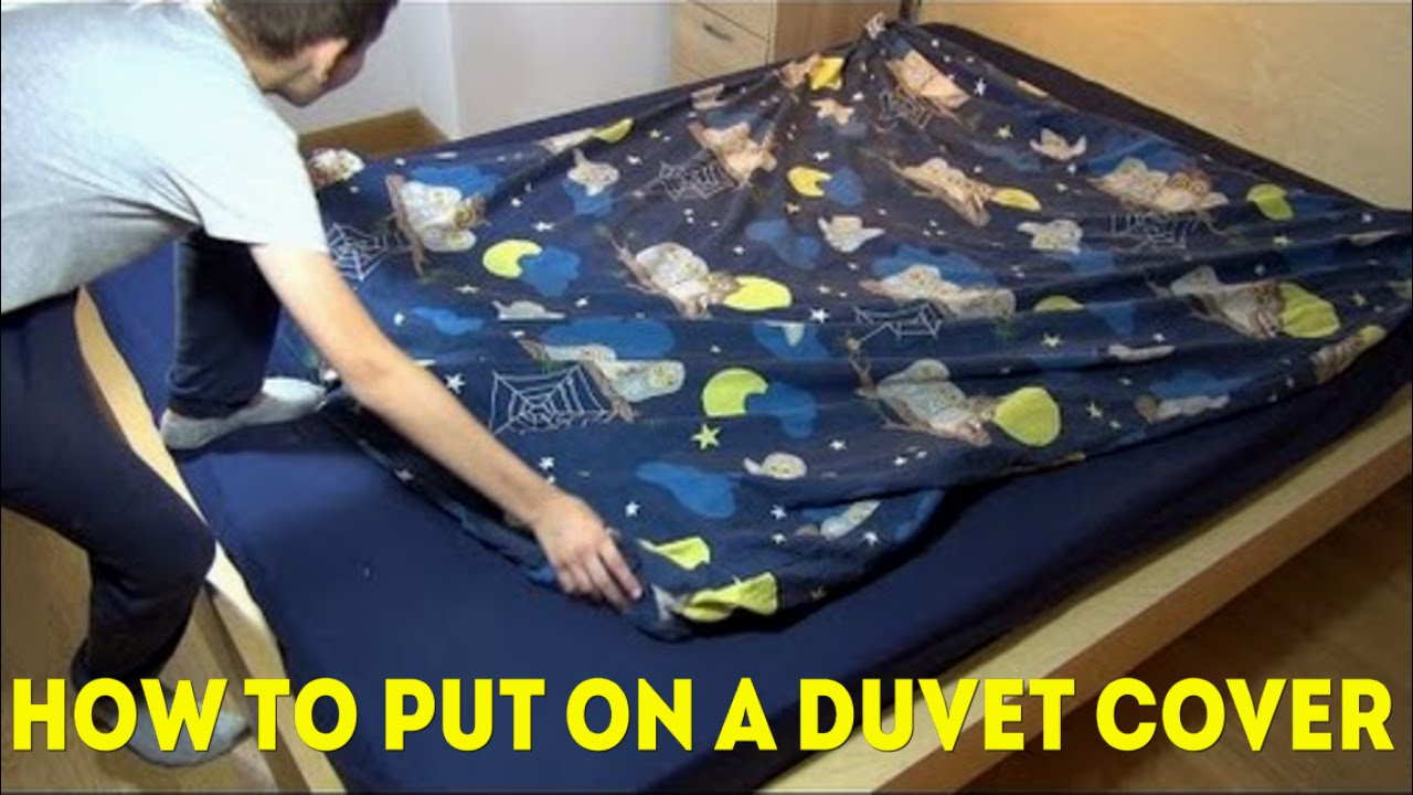 How To Put On A Duvet Cover Quickly And Easy Youtube
