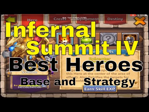 Castle Clash Infernal Summit IV: Best Heroes, Base, And Strategy