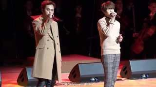 [Fancam] BEAST 141127 - Greetings + On Rainy Days (Ministry of National Defense Band)