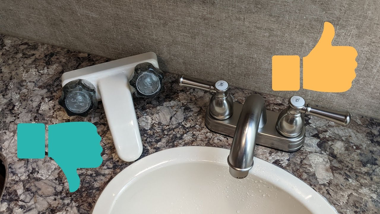 Easy Rv Bathroom Sink Faucet Replacement Youtube