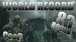 [WORLD RECORD] 83 Rounds Black Ops 2 Nuketown Zombies Coop! (BO2 Zombie Gameplay)