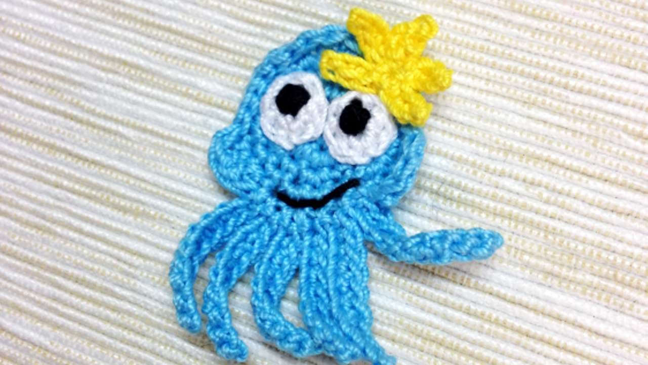 How To Make A Crocheted Octopus Applique - DIY Crafts Tutorial ...
