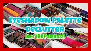 Download Eyeshadow Palette Declutter 2019 | Over 120 Palettes! 🙀 Mp3 and Videos