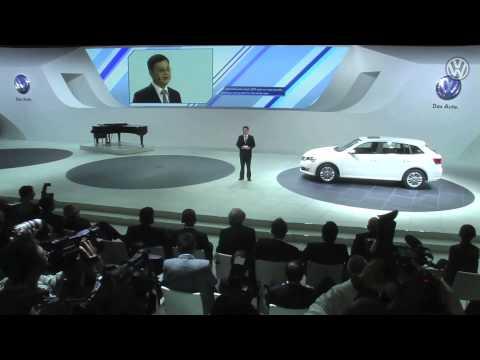 Volkswagen Pressconference Auto Shanghai 2013 in Englisch