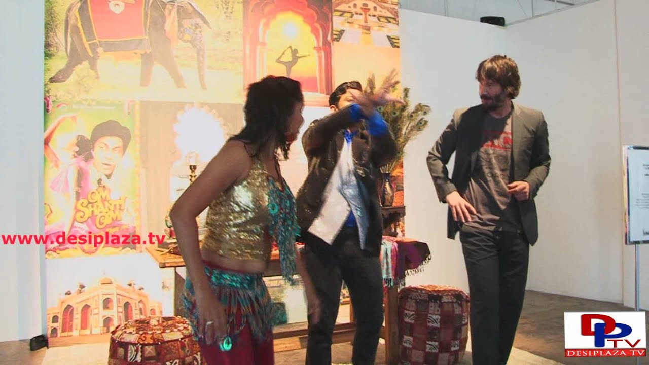 Hollywood Actor Keanu Reeves doing Bollywood Dance at the launch of Neiman Marcus Christmas Book