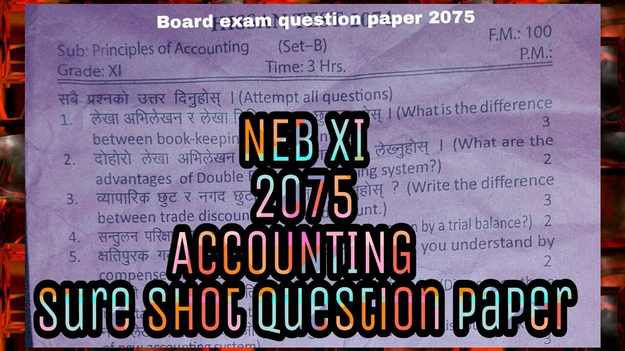 NEB Class 11 2075 question paper