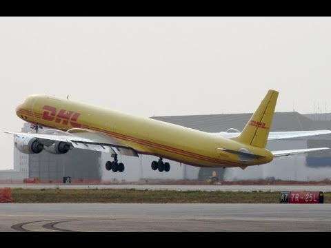 DHL Cargo McDonnell Douglas DC-8-73(F) [N803DH] Pushback and Takeoff