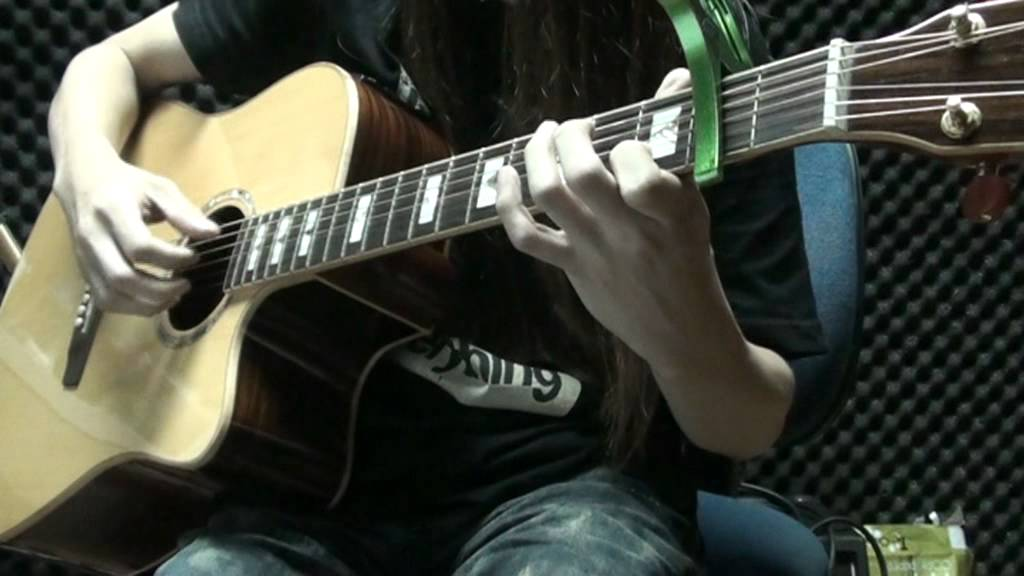 RAIDAS- 傾心 木結他 acoustic guitar 獨奏 chord solo finger style cover by Eric Lo - YouTube
