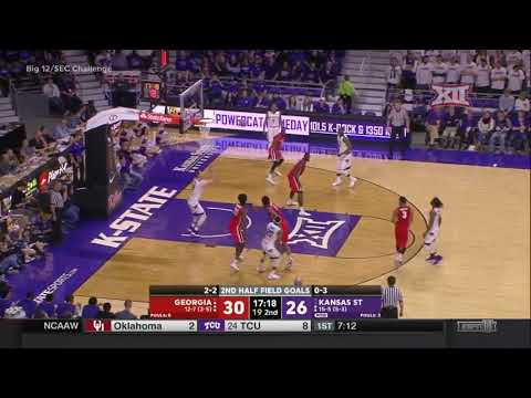 Georgia vs Kansas State Men's Basketball Highlights
