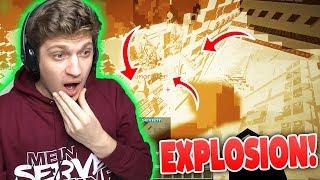 KRASS! RIESEN Luckyblock EXPLOSION ZERSTÖRT Haus von Spieler!! 😨