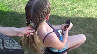 Две Простые Французские Косы. Peinado Hairstyles French Braids