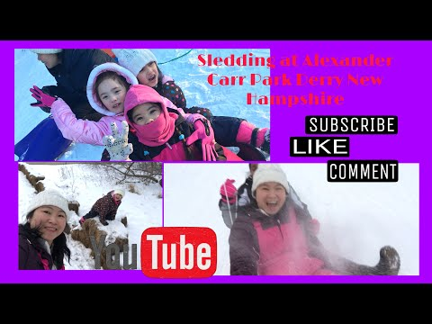 SLEDDING AT ALEXANDER CARR PARK DERRY NEW HAMPSHIRE