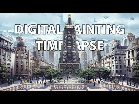 Timelapse Digital Painting – Alexandria  | enviro landscape concept art illustration speedpainting