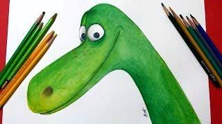how to draw the good dinosaur Arlo